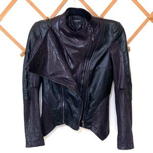 Comme Faux leather black moto style jacket